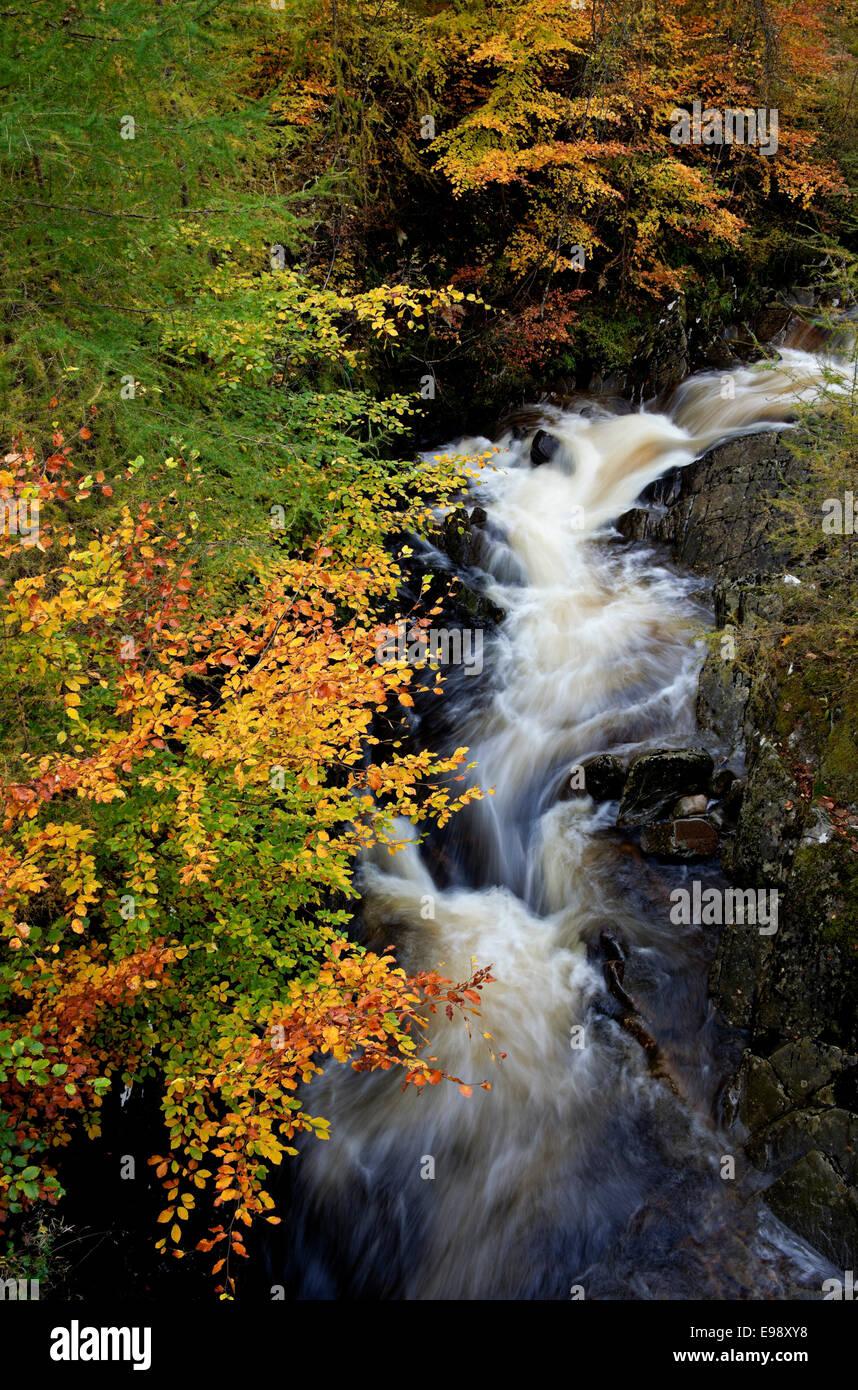 Waterfall, Glen Lyon Perth Kinross Perthshire Scotland Stock Photo