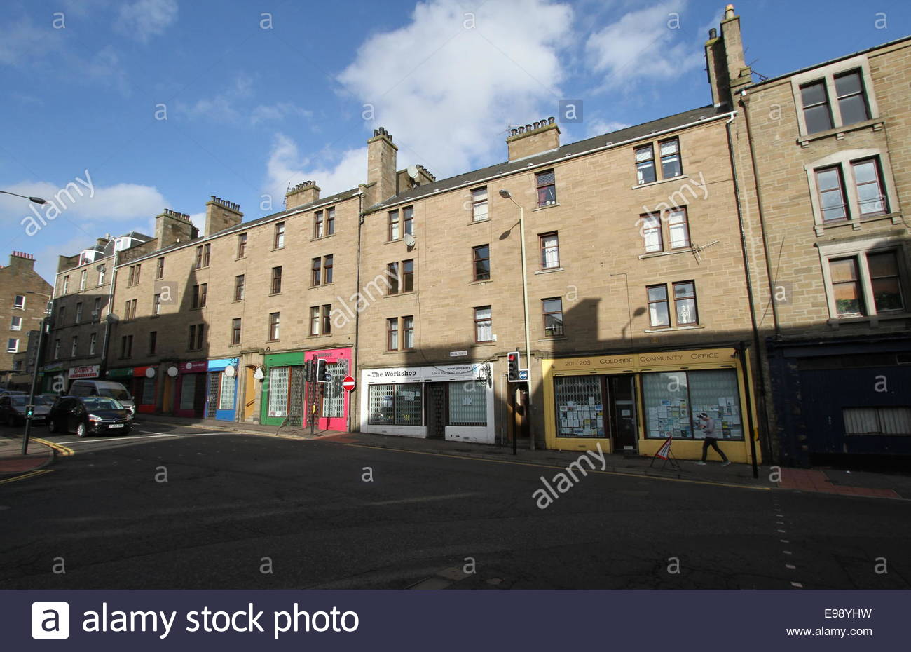 Hilltown street scene Dundee Scotland  October 2014 - Stock Image