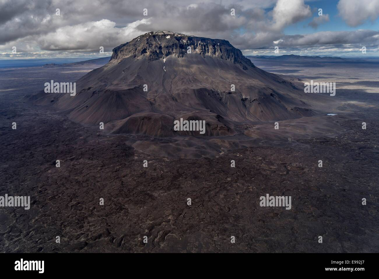Mt. Herdubreid, Central Highlands, Iceland Mt. Herdubreid is a high table mountain in the highlands and close to - Stock Image
