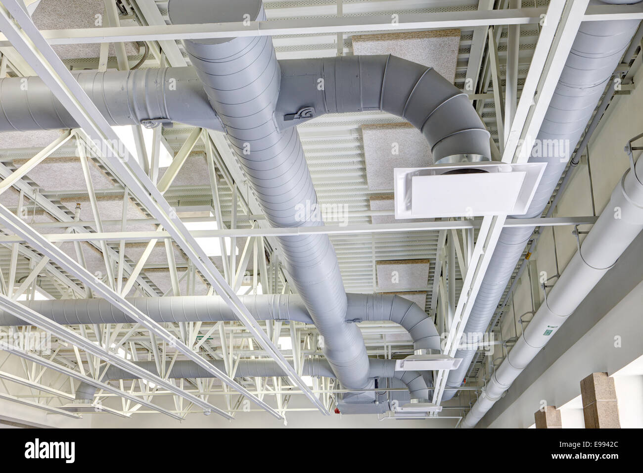Hvac Duct Work In A Modern Building Stock Photo 74574148
