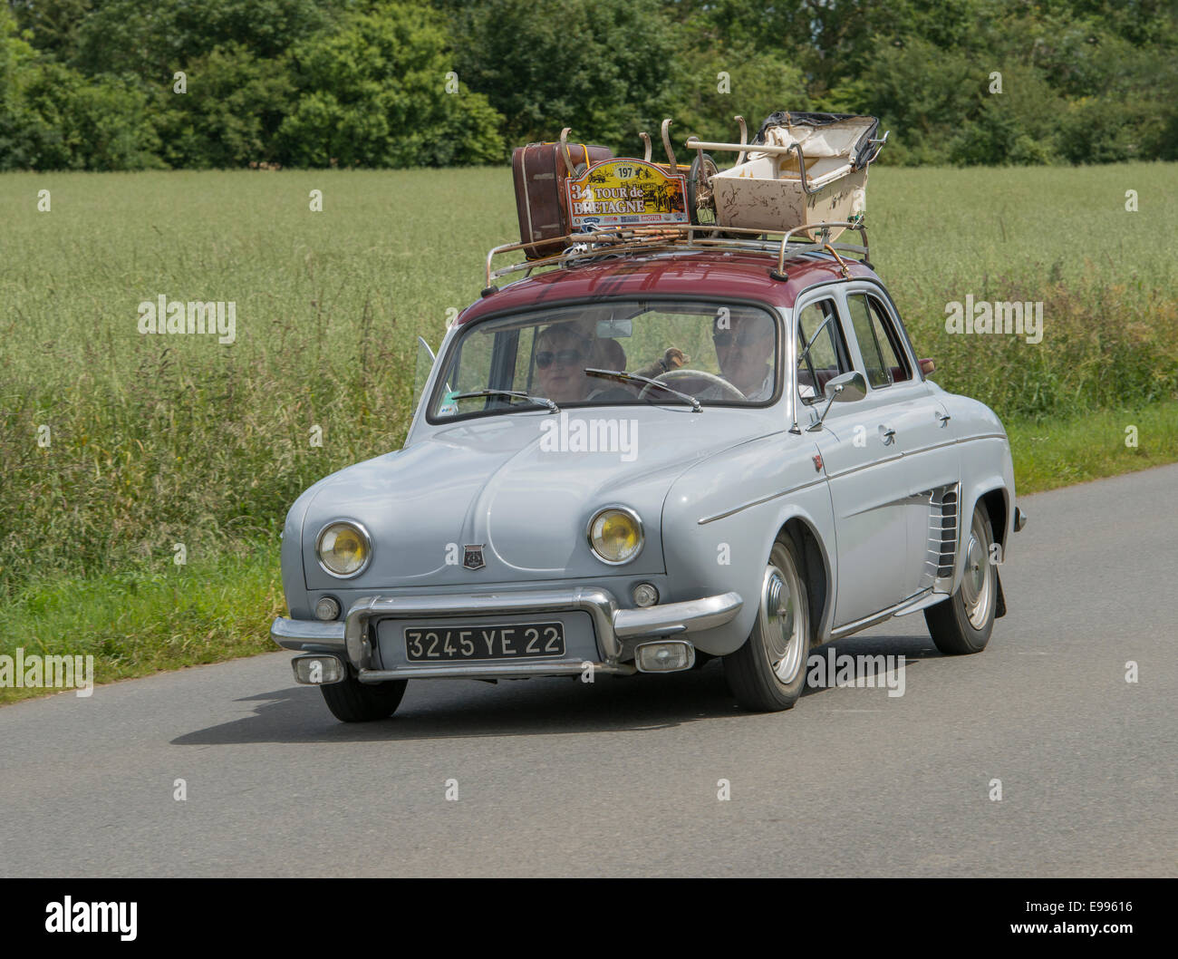 Renault Dauphine Of 1959 In The Tour De Bretagne 2014 France Stock Photo Alamy