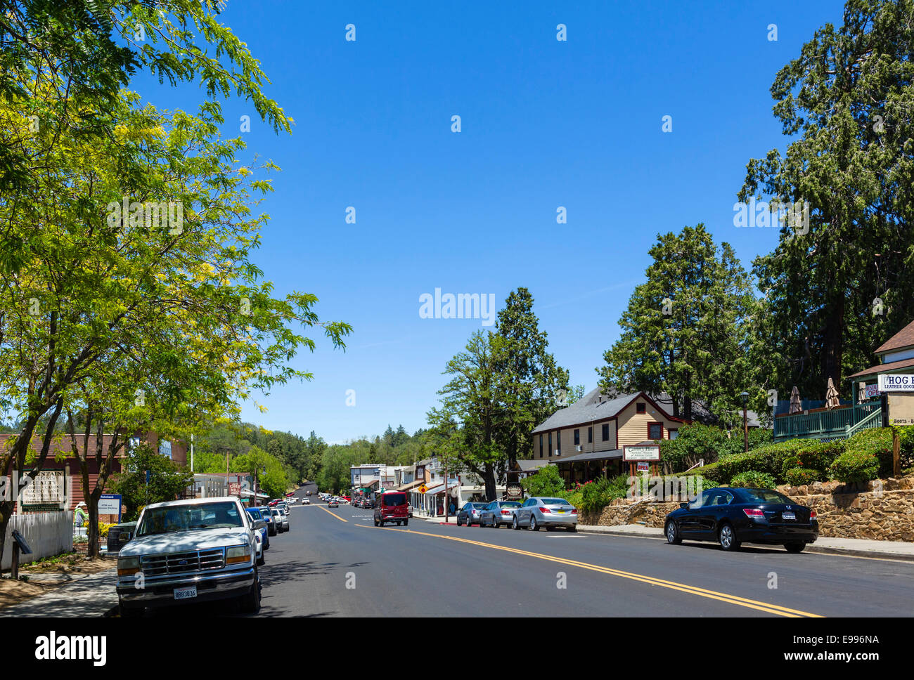 Main Street in the historic old town of Julian, San Diego County, California, USA - Stock Image