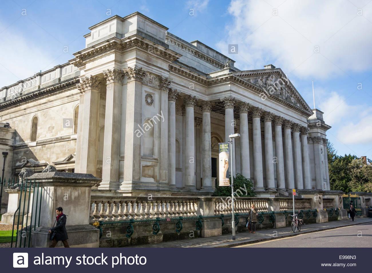 The Fitzwilliam Museum, Trumpington Street, Cambridge, England Stock Photo
