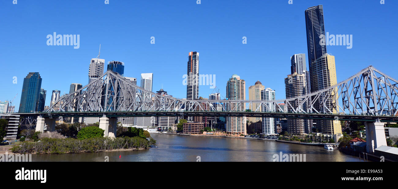 BRISBANE, AUS - SEP 24 2014:Brisbane Skyline.It is Australias third largest city, with its fastest growing economy - Stock Image