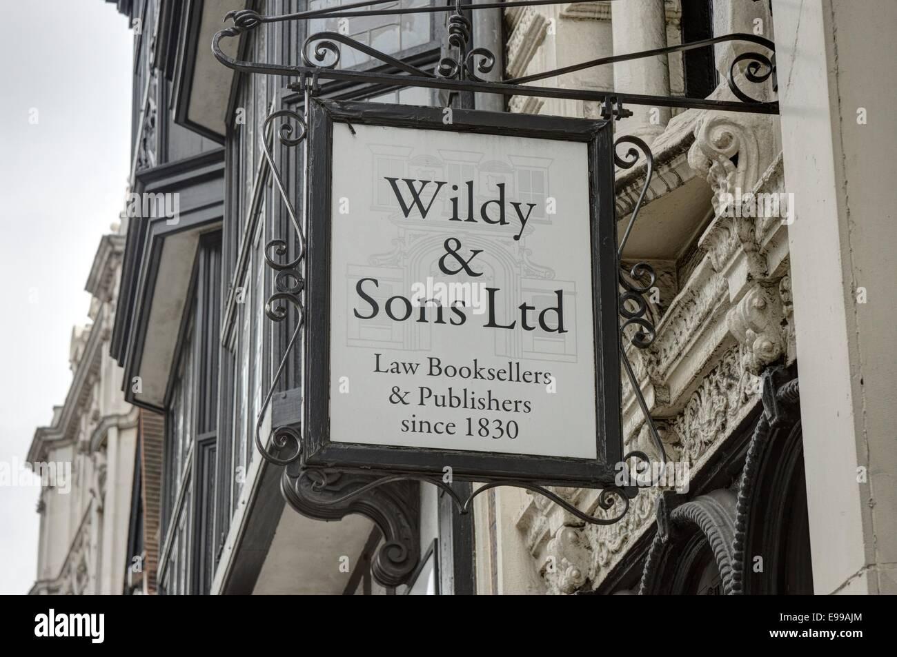legal bookseller, Fleet Street,  London - Stock Image