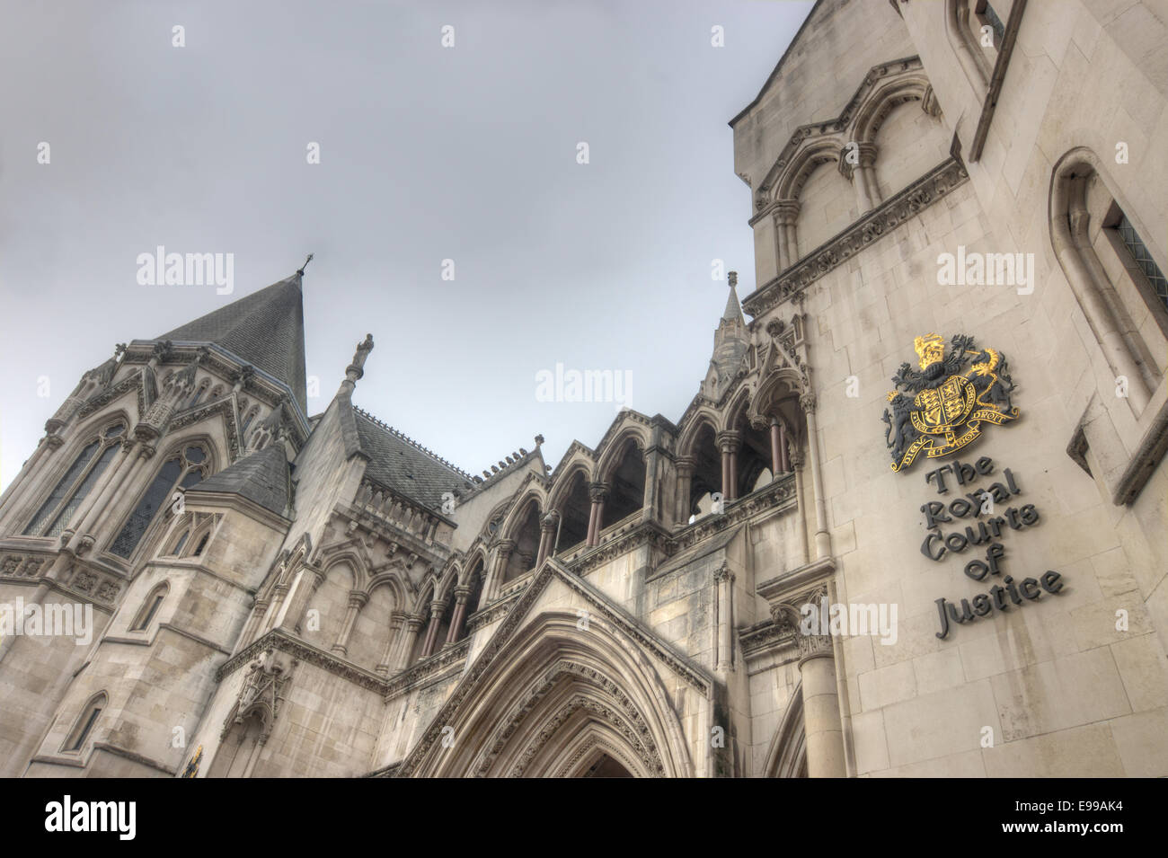 The royal courts of justice  London.  The High Court - Stock Image