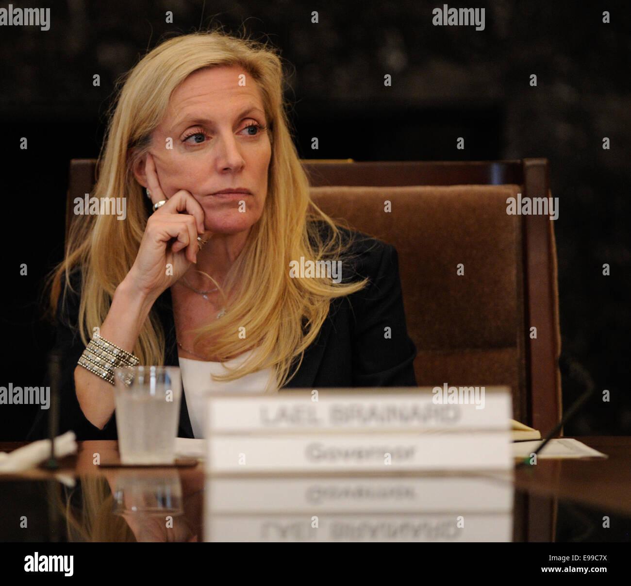 Washington, DC, USA. 22nd Oct, 2014. U.S. Under Secretary of Treasury Lael Brainard attends an open meeting at the Stock Photo