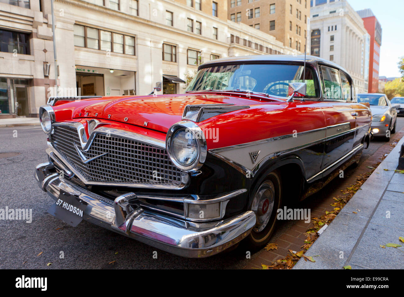 Vintage 1957 Hudson Hornet V8 Super Hollywood sedan - USA - Stock Image