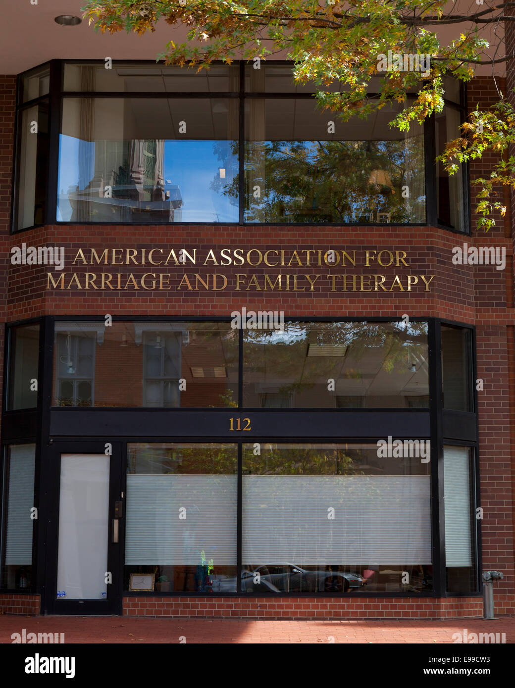 American Association of Marriage and Family Therapy HQ building - Alexandria, Virginia USA - Stock Image