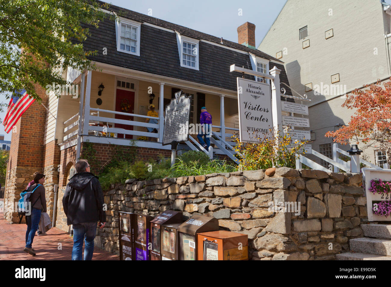 Old Town Alexandria visitors center - Virginia USA Stock Photo