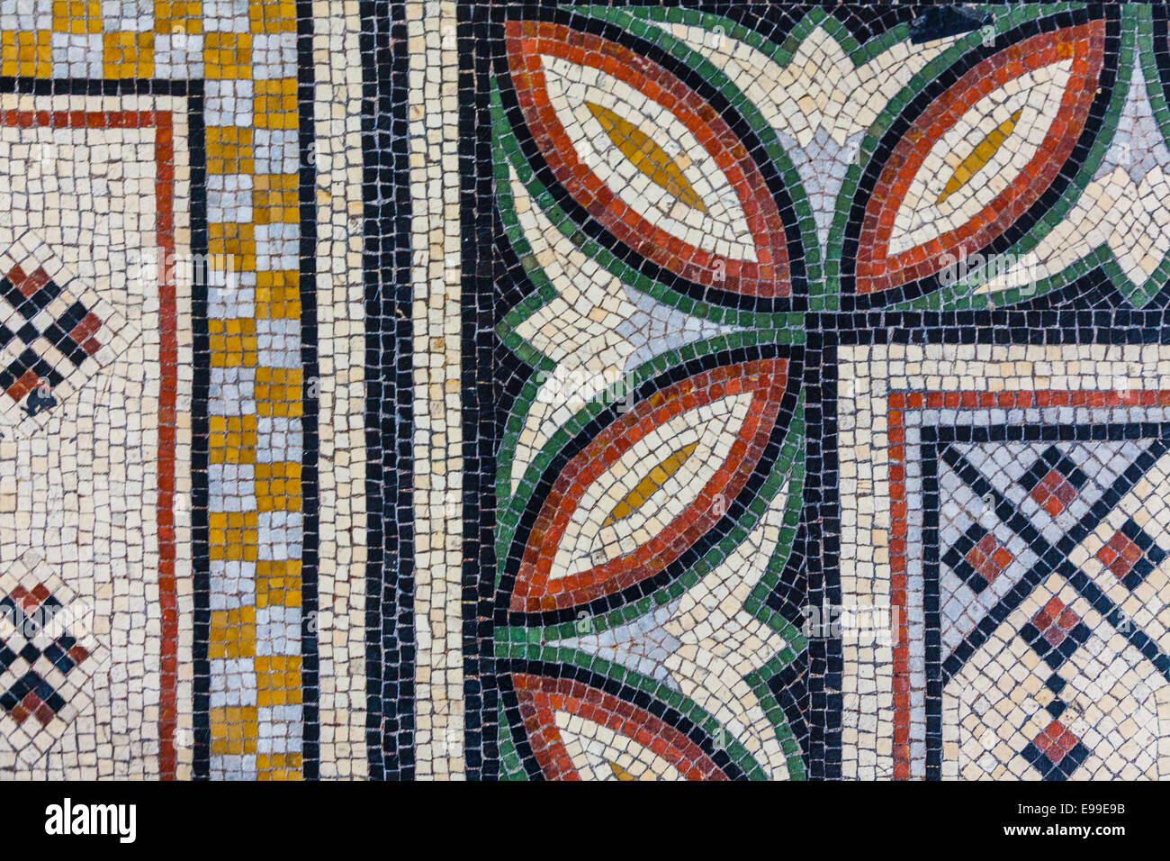 Abstract example of mosaic flooring in the Cathedral Major, Marseille, France. - Stock Image