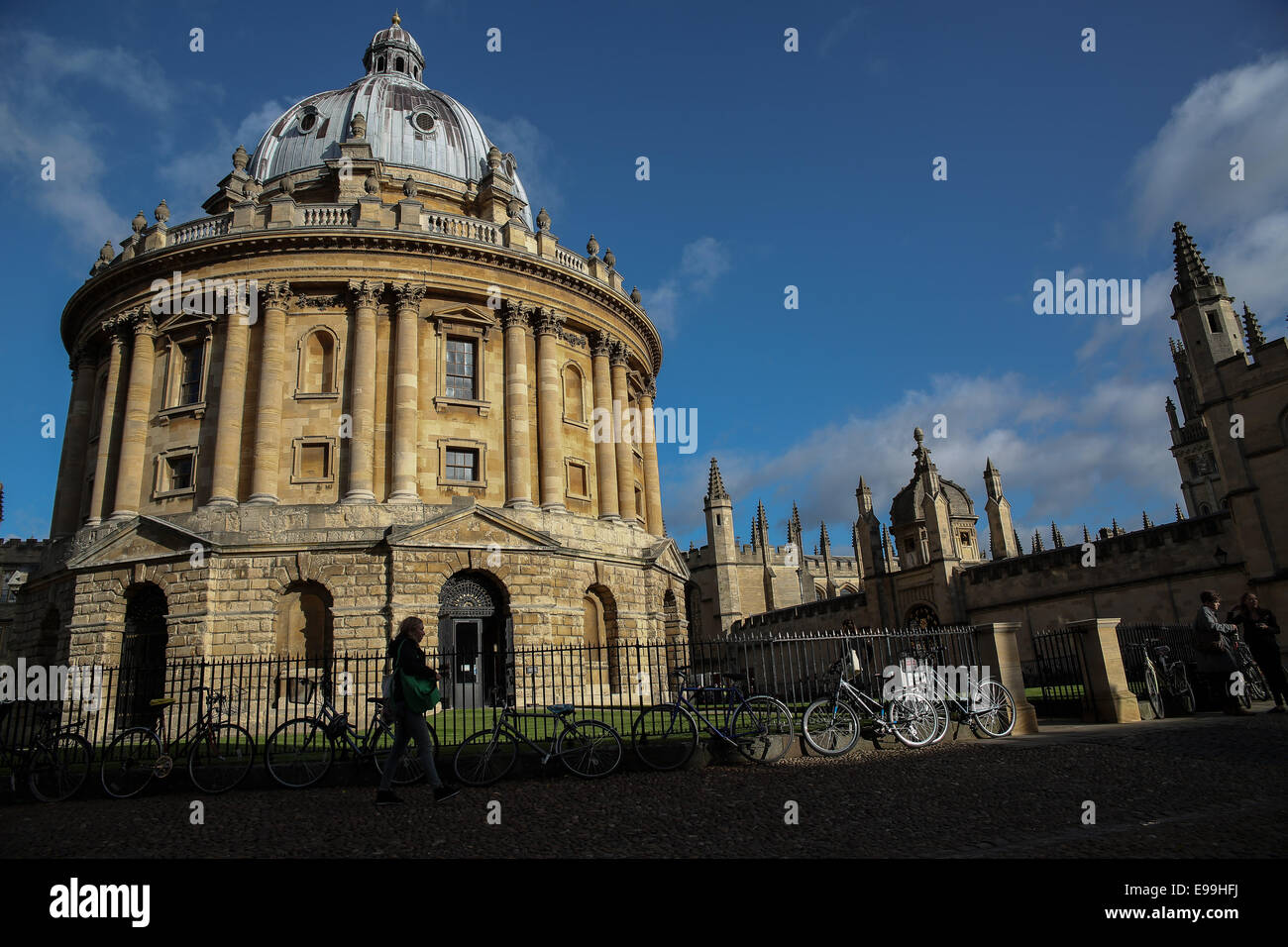 Radcliffe Library in Oxford. - Stock Image