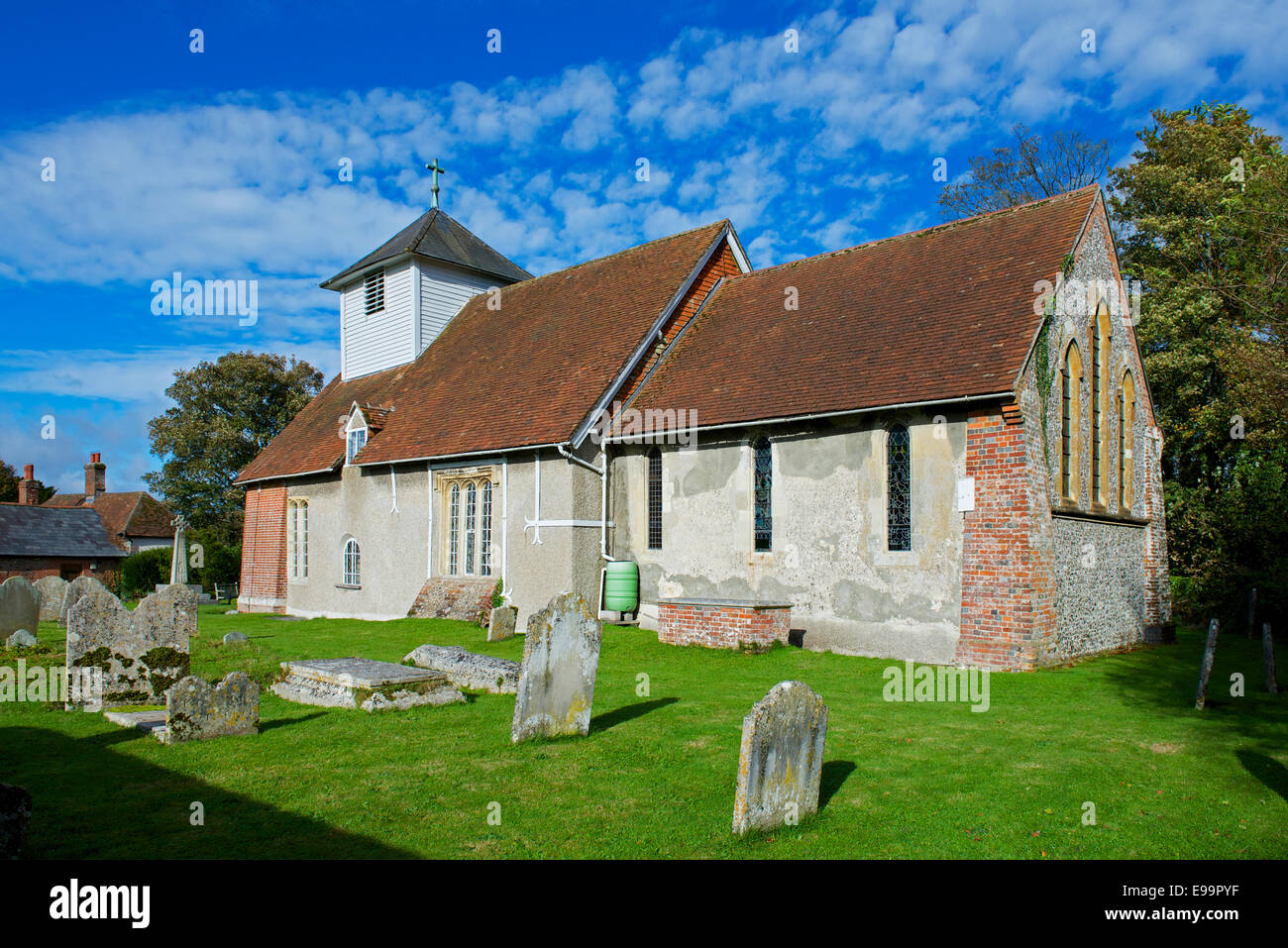All Saints Church, in the village of Dummer, Hampshire, England UK - Stock Image
