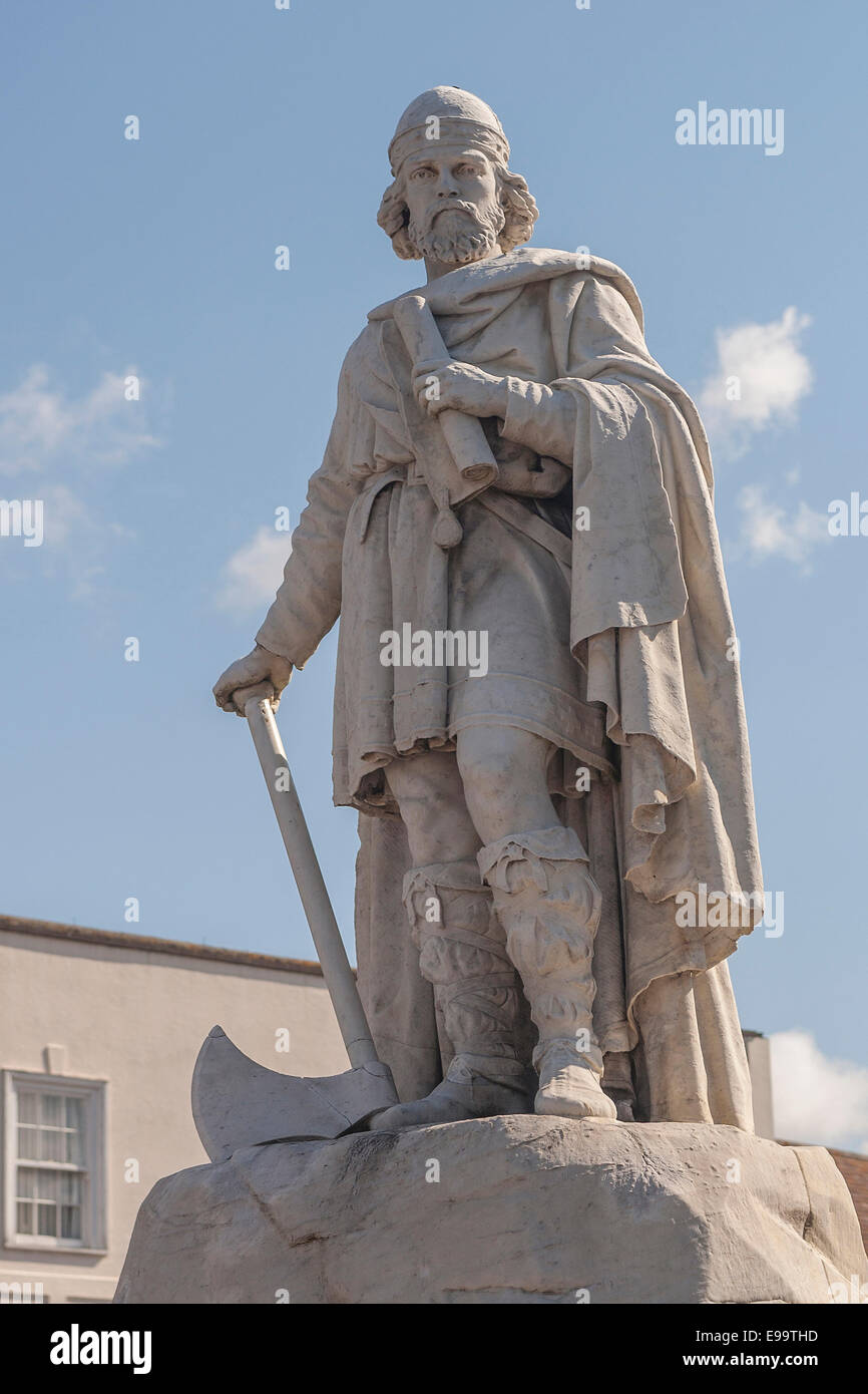 England, Oxfodshire, Wantage, King Alfred Great statue - Stock Image