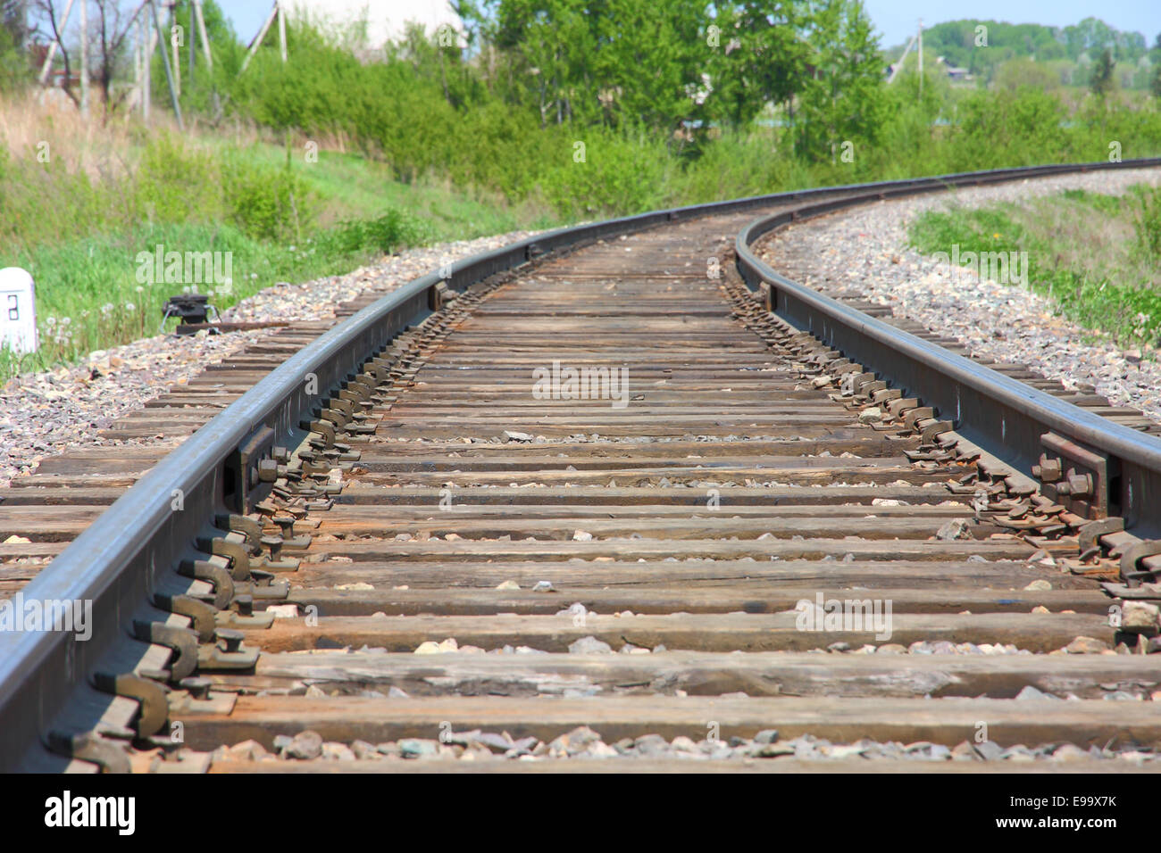 Rotate the rail leaving the distance - Stock Image
