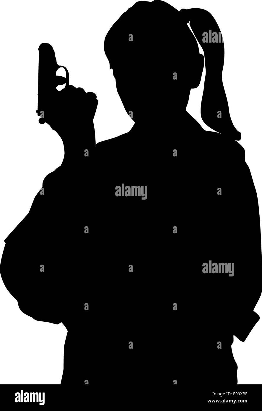 girl gun silhouette stock photos girl gun silhouette stock images