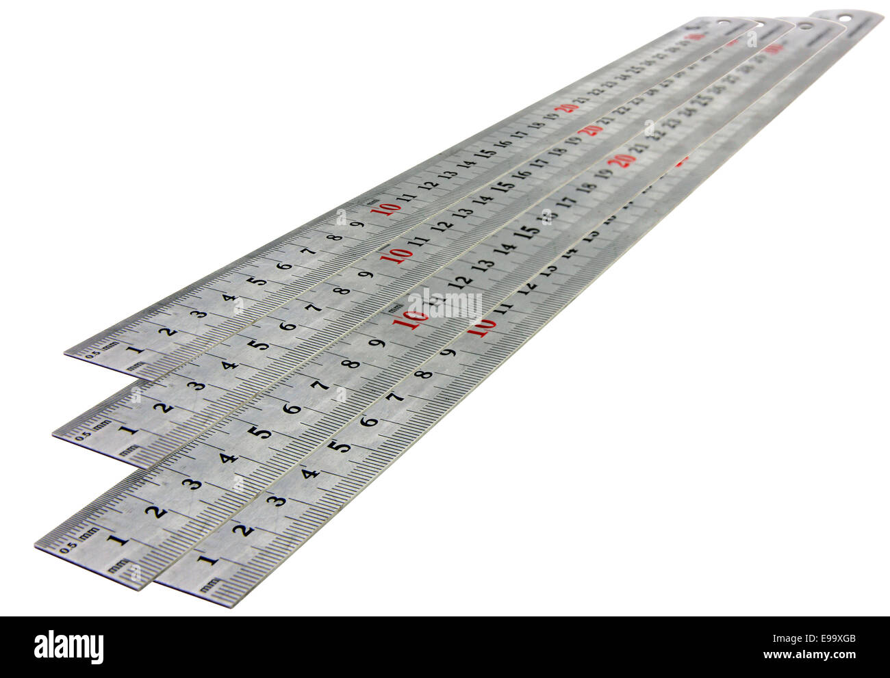 isolated with metal ruler - Stock Image