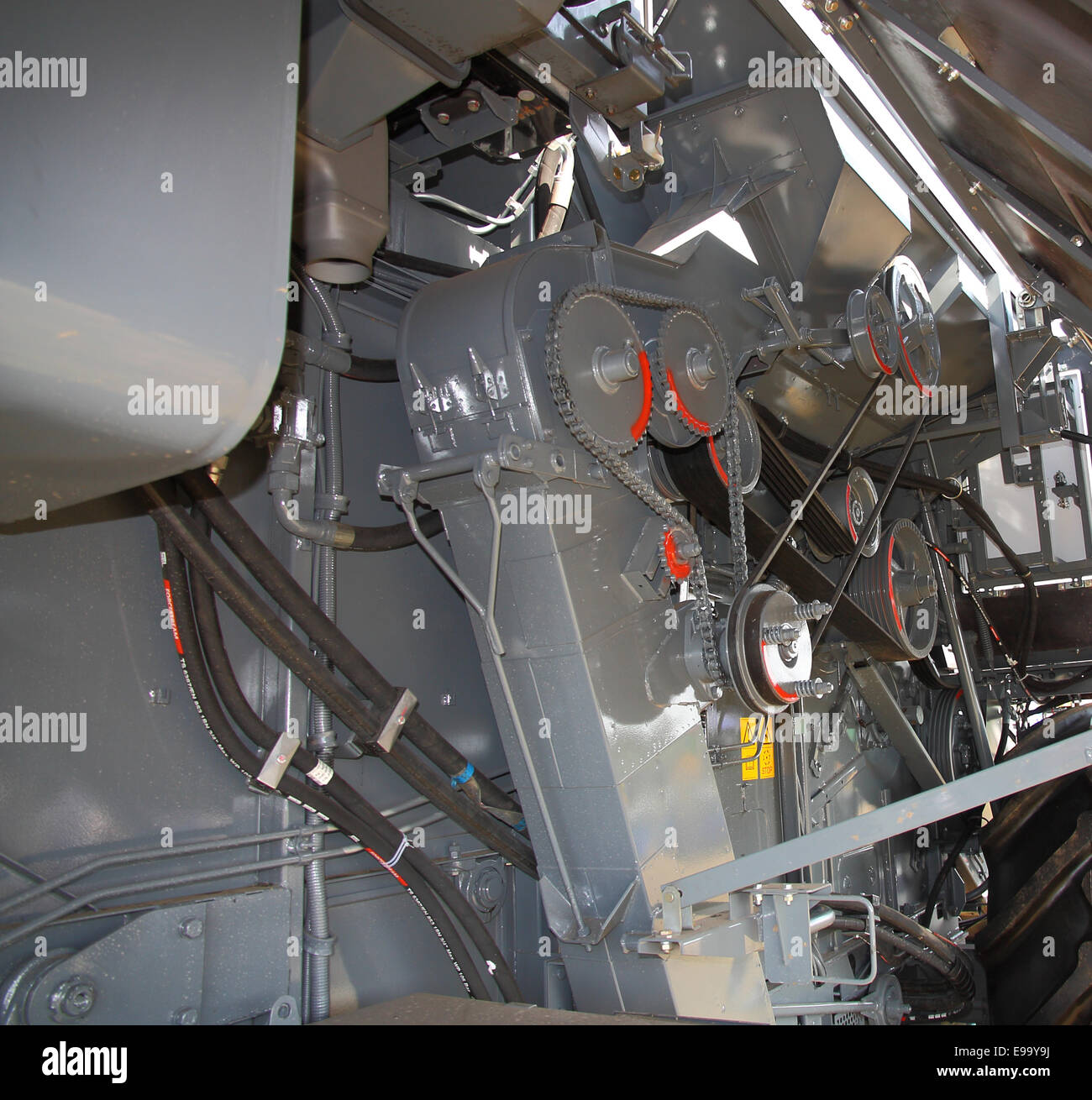 drive belts and mechanisms combine - Stock Image