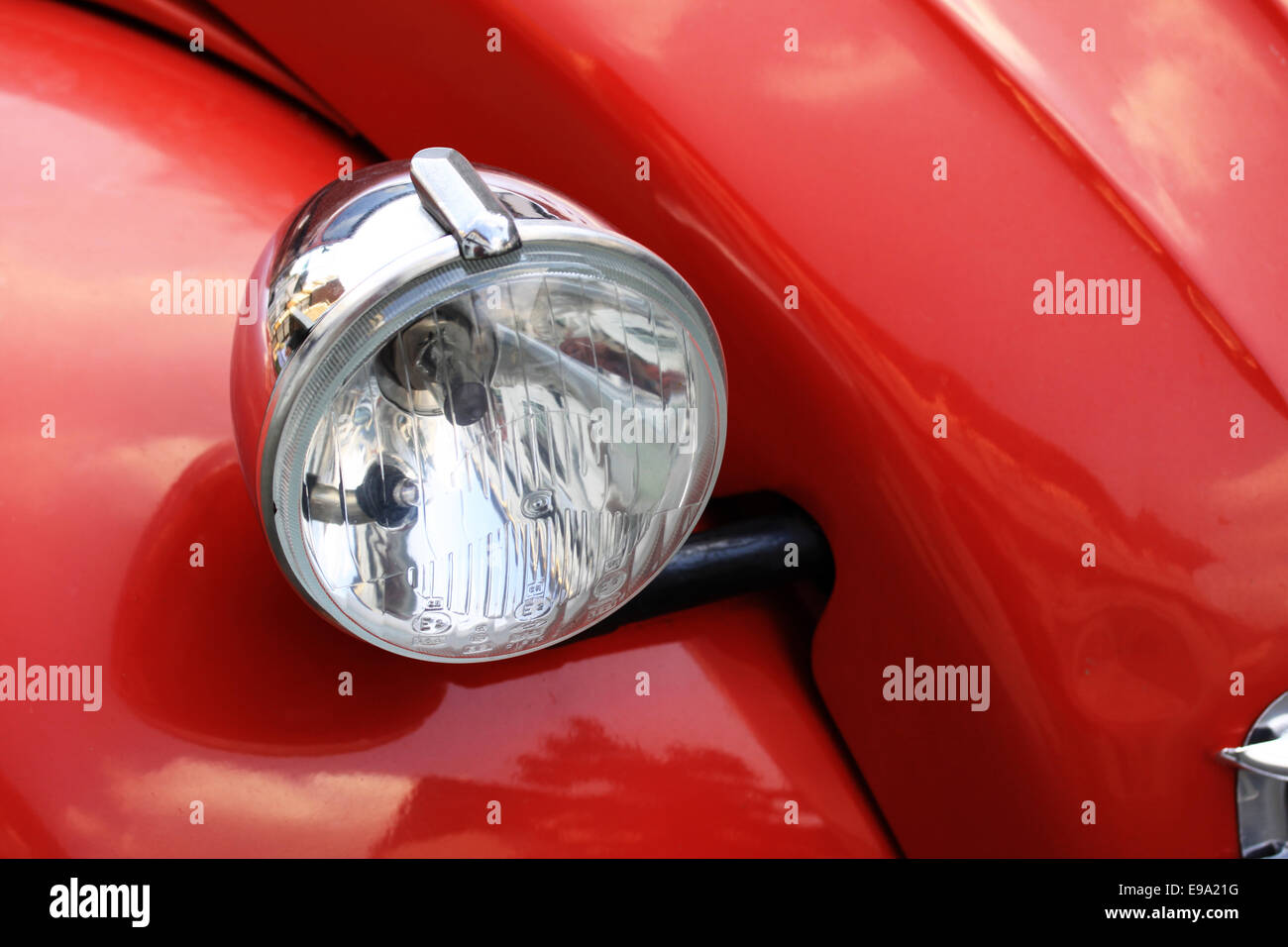 light of a red car Stock Photo