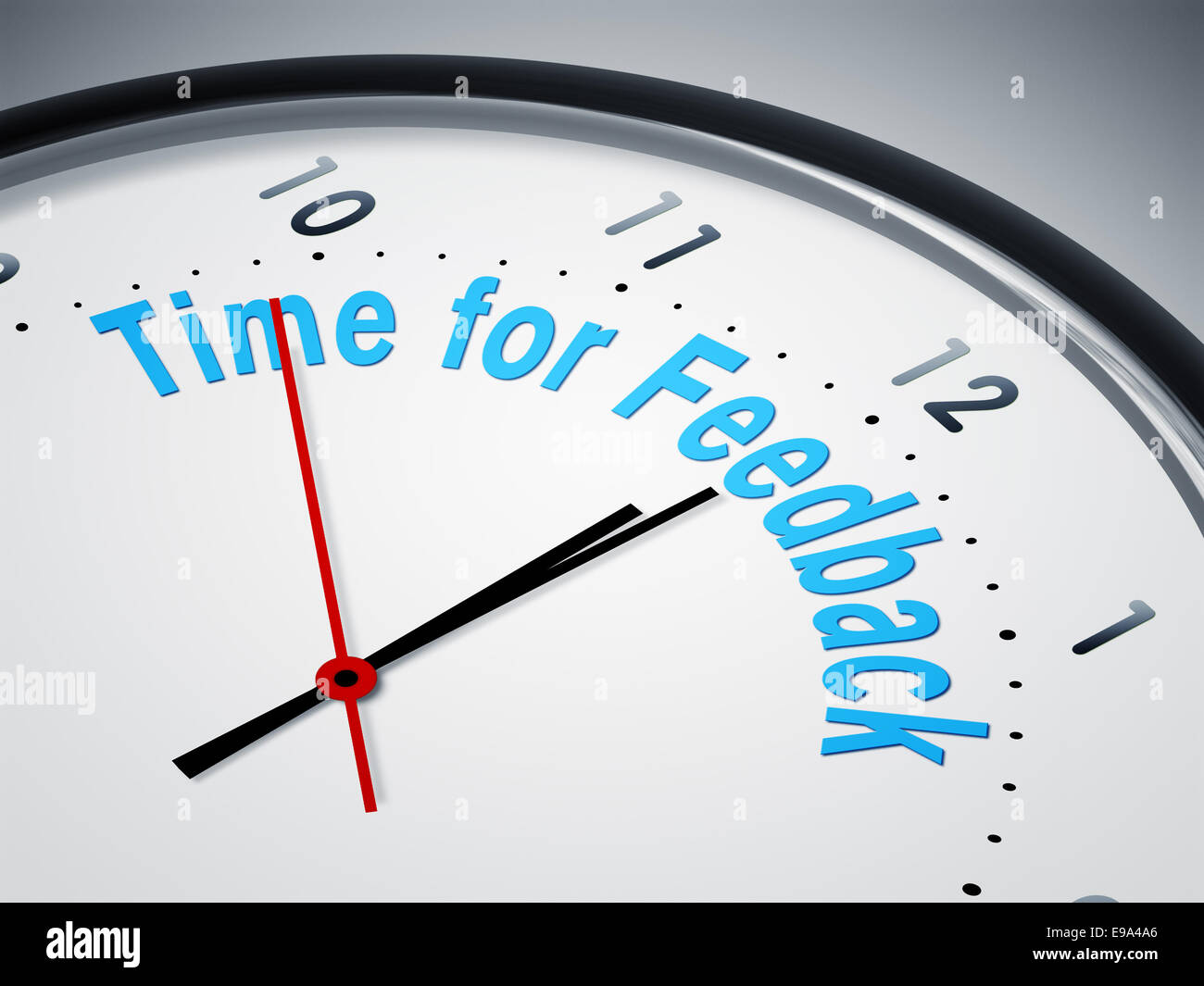 time for feedback - Stock Image