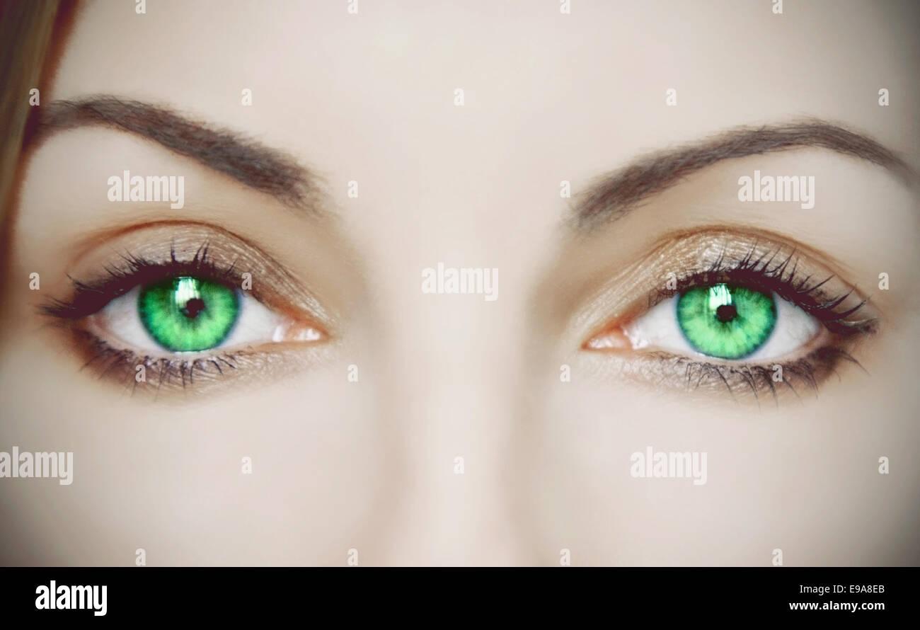 Green Eyes - Stock Image