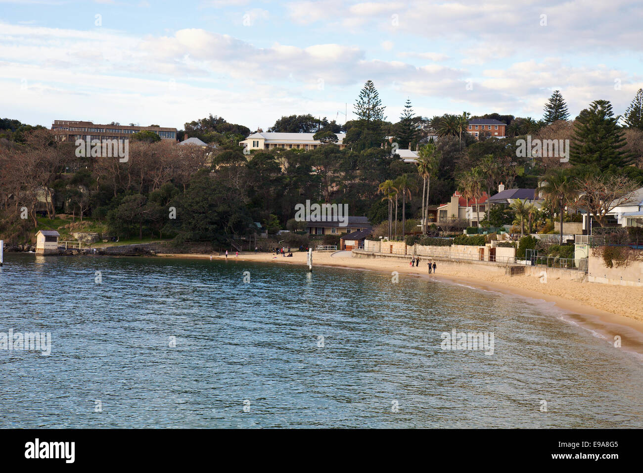 A view of Camp Cove Harbour Beach,  Watsons Bay, Sydney. - Stock Image