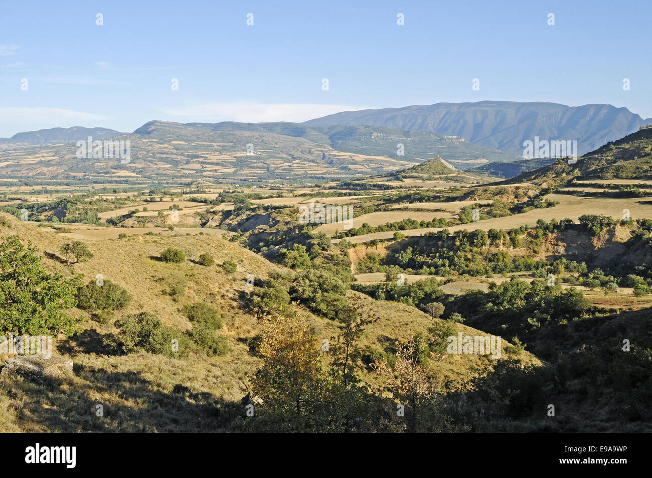 Landscape near Tremp, Lleida province, Spain Stock Photo