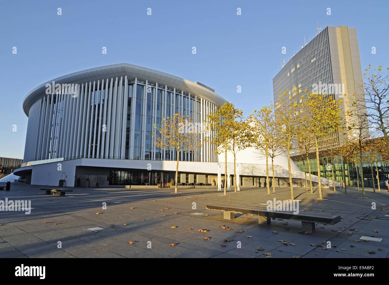 philharmonic hall, Kirchberg area, Luxembourg - Stock Image