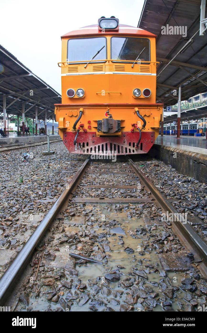 Diesel locomotive train - Stock Image