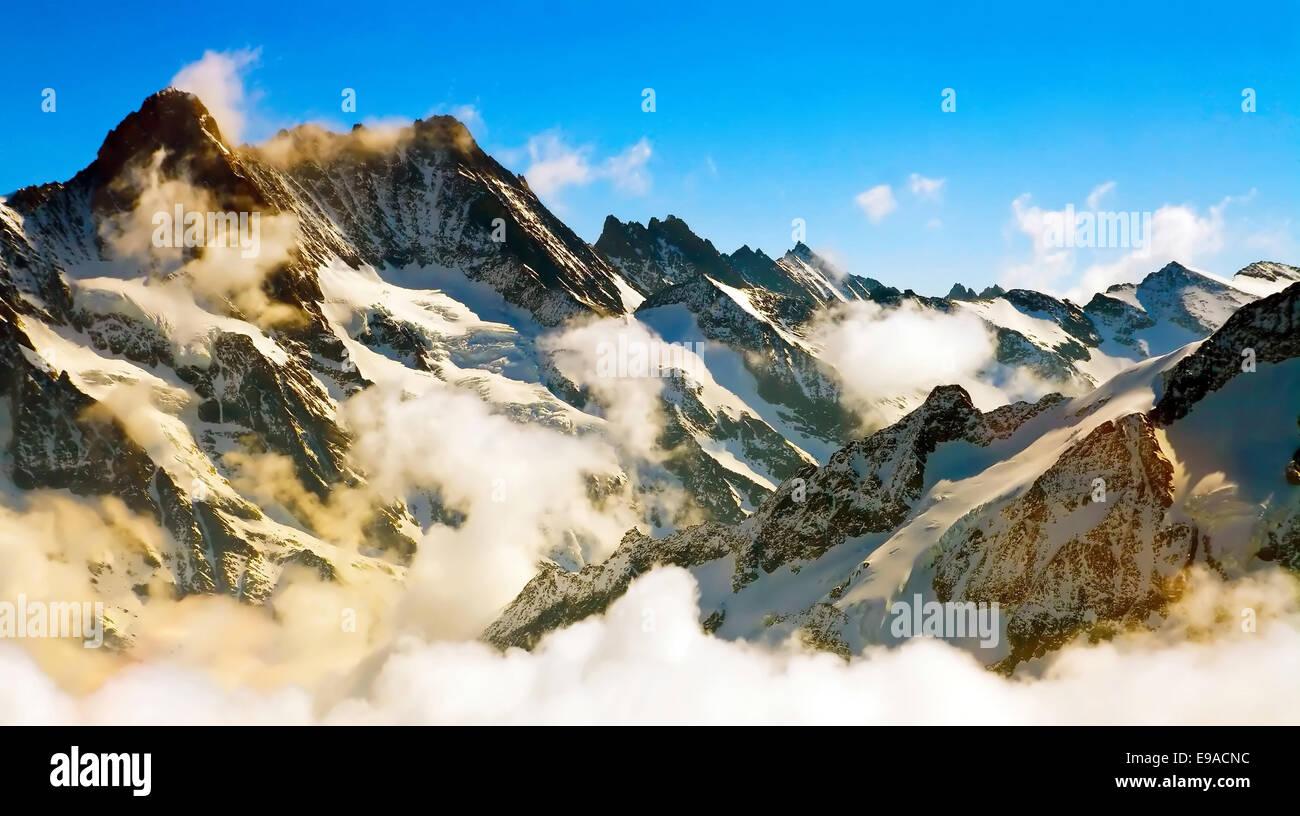 Mist at Jungfrau, Switzerland - Stock Image