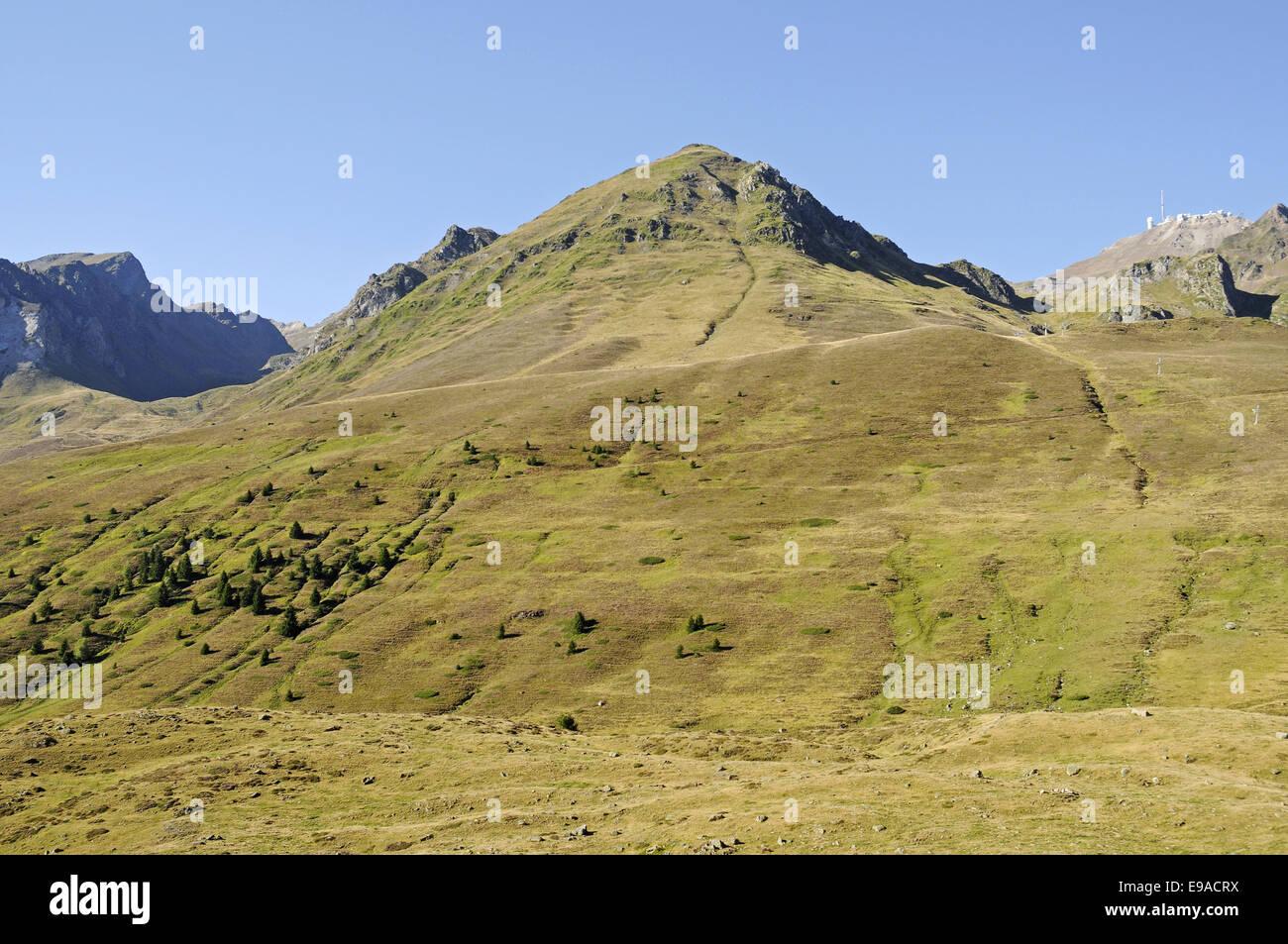 Col du Tourmalet, mountain, Bareges, France Stock Photo