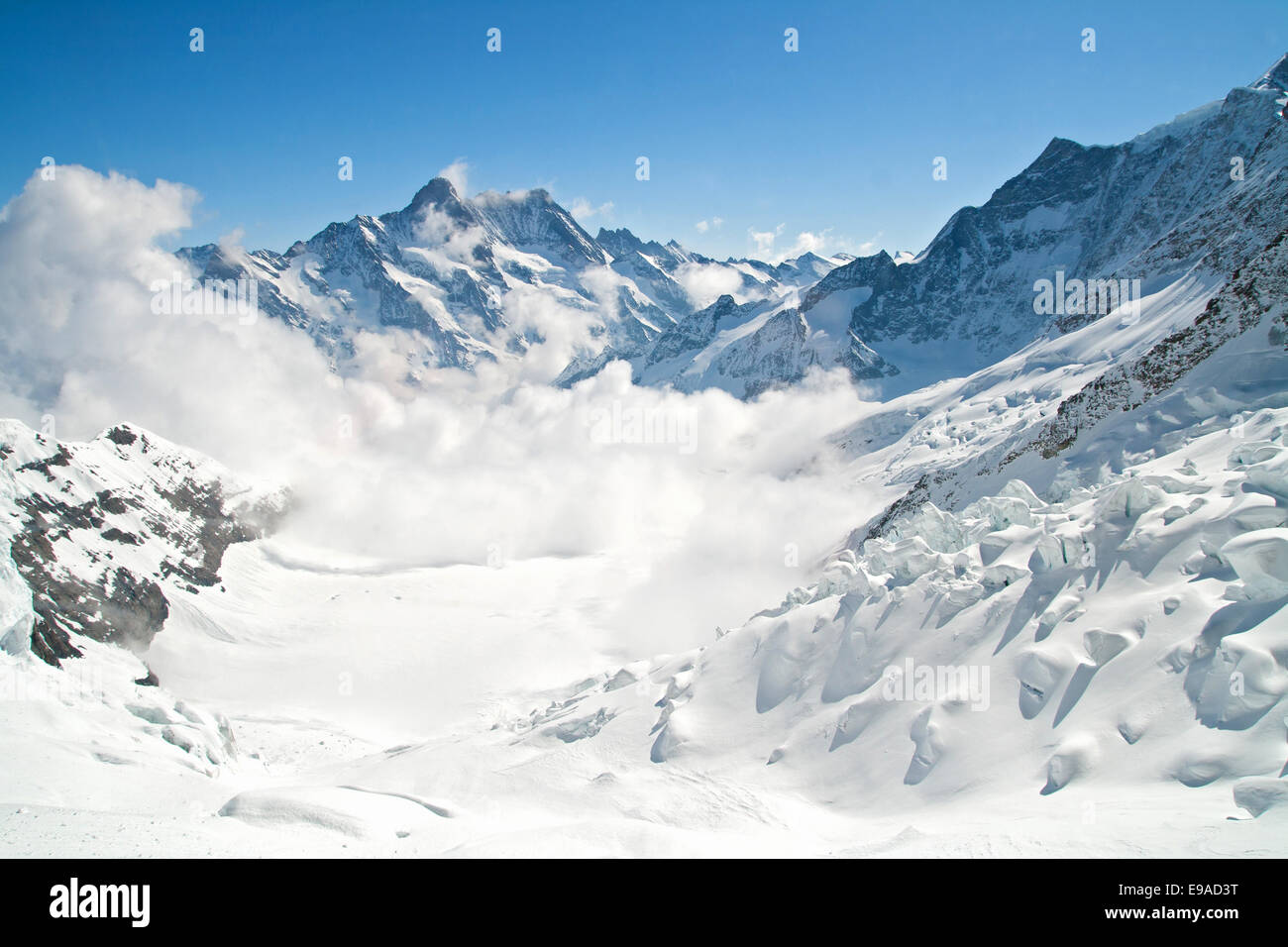 Jungfrau Mountain Range in Switzerland - Stock Image