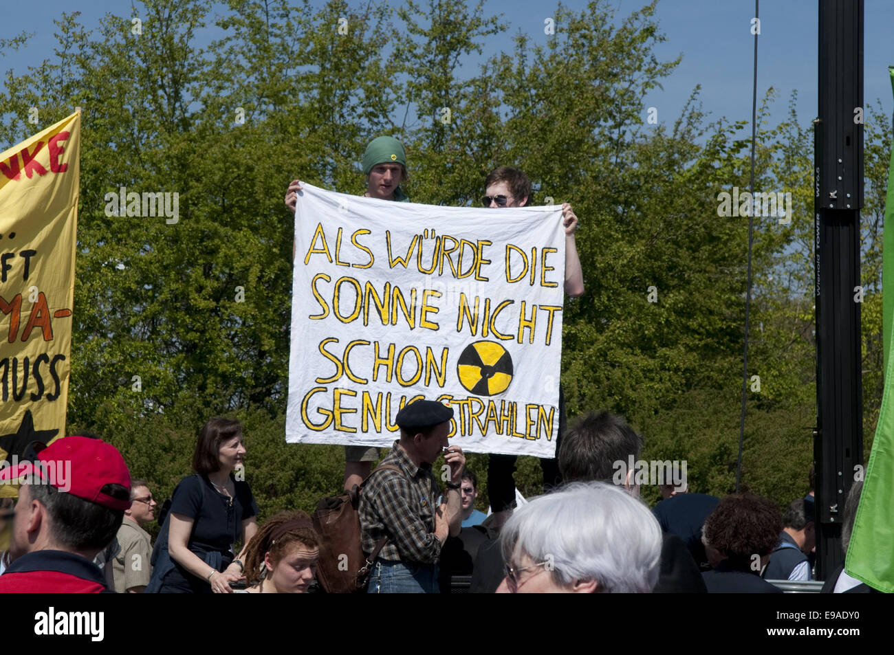 Anti nuclear demonstration in Biblis - Stock Image