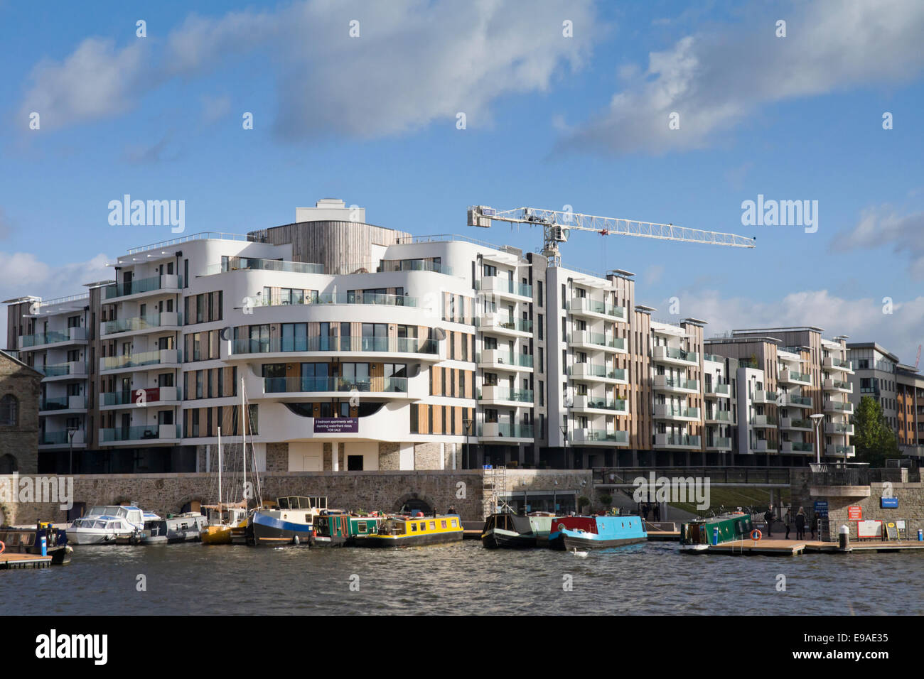 Bristol harbour or Harbourside Bristol England UK ...