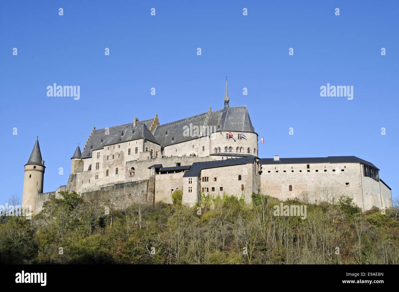 Castle, Vianden, Luxembourg Stock Photo