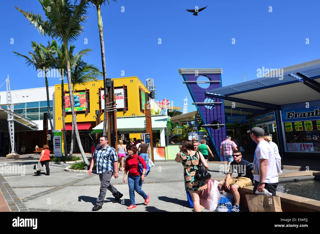 720bf1830f5 GOLD COAST, AUS - OCT 19 2014:Shoppers at Harbour Town shopping ...
