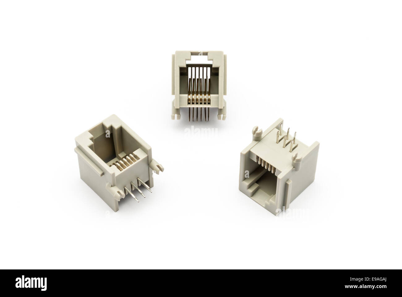 Pile of RJ-11 Jacks. Stock Photo