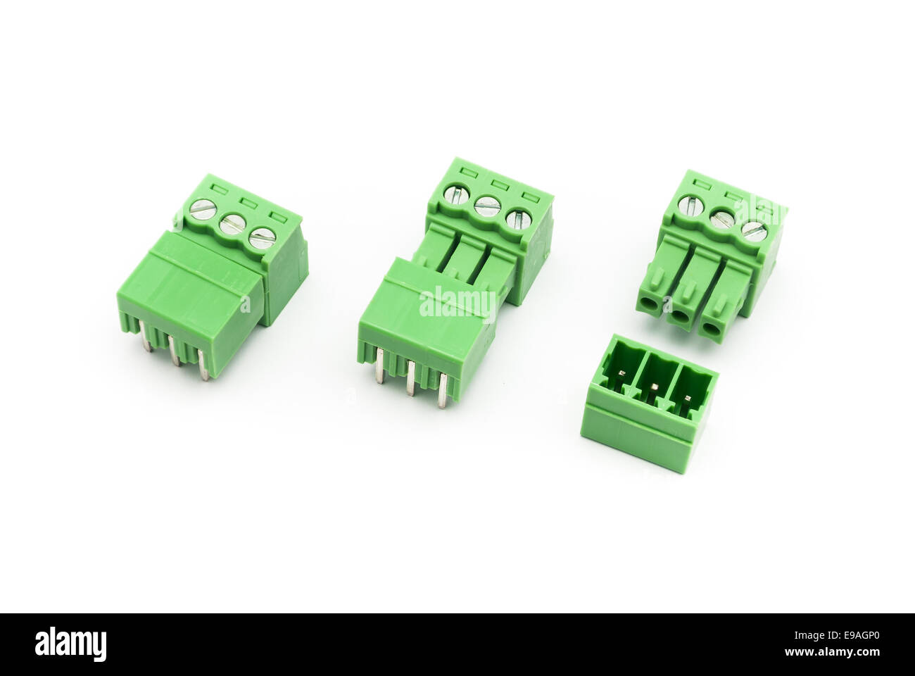 Wire Connector Terminal Block Stock Photos Wiring Chocolate Screw Pairs Image