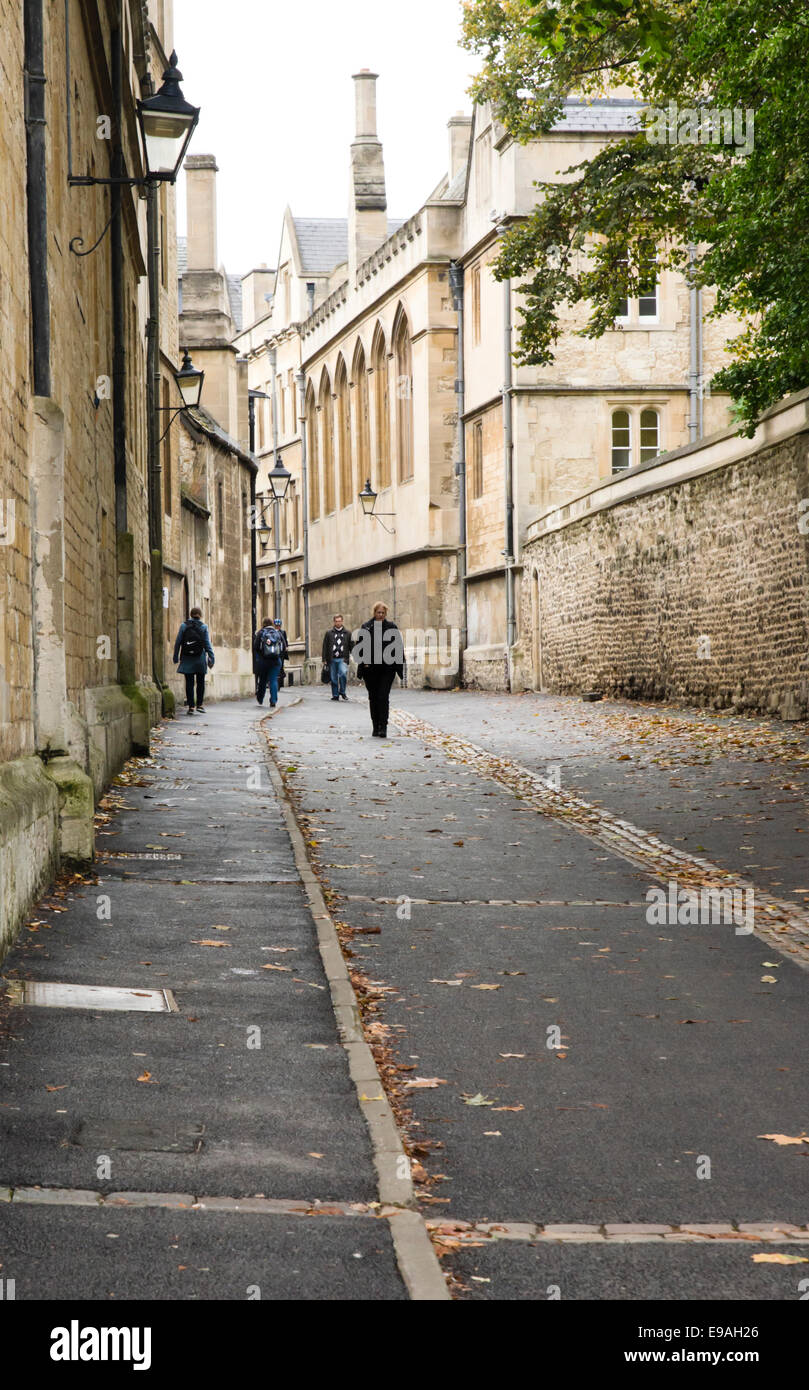 Around Oxford City, the Historic University city in Oxfordshire England UK Brasenose Lane - Stock Image