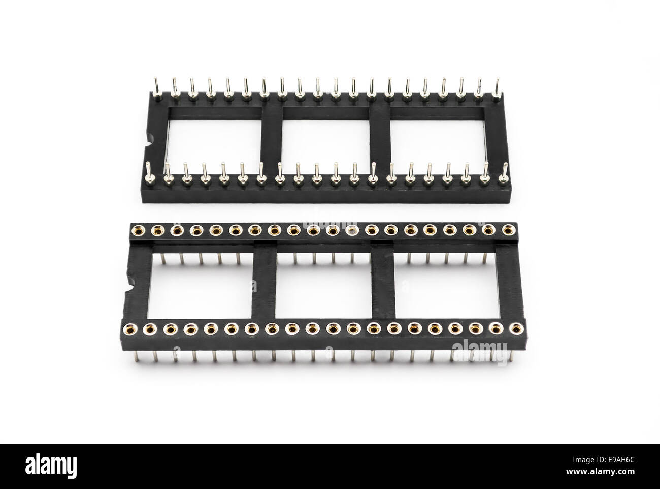 Integrated Circuit Ic And Socket Stock Photos 8 Pin Or 2x4 Round Hole Sockets Image