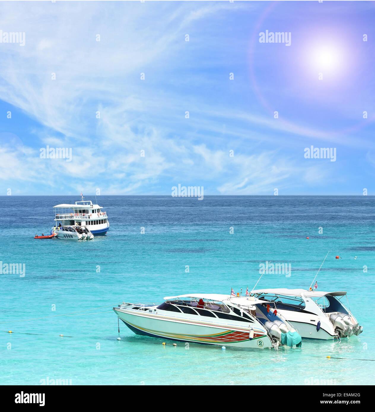 Speed Boat at Similan National Park - Stock Image