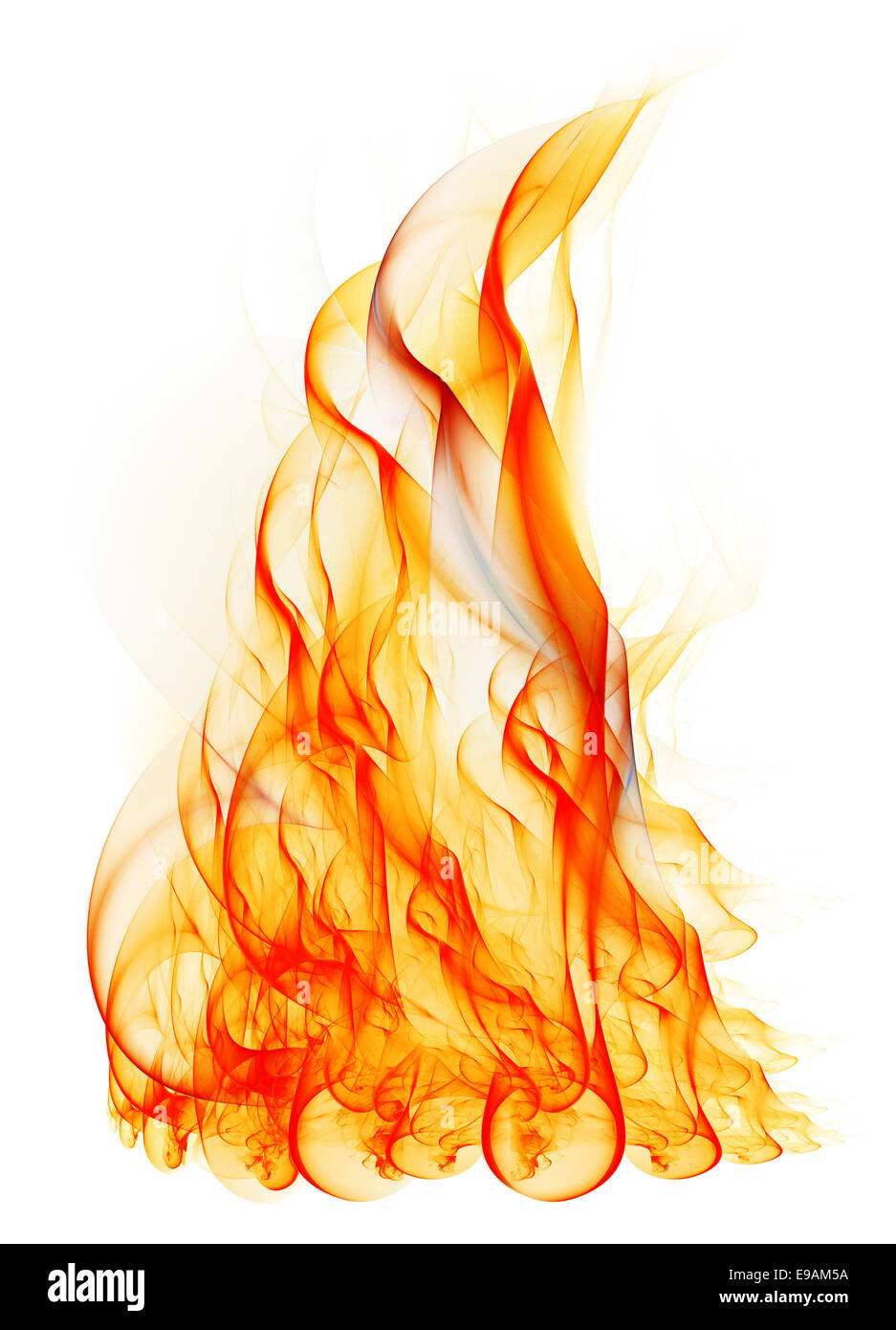 fire on white background flame fractal fire isolated on white background stock 1226