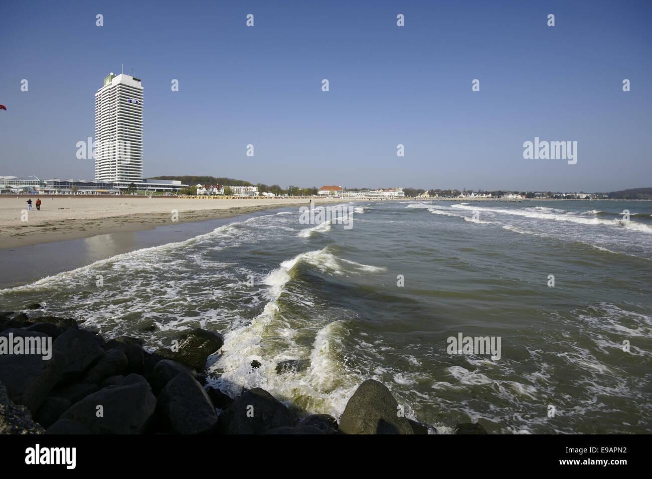 Beach of Travemuende, Germany Stock Photo