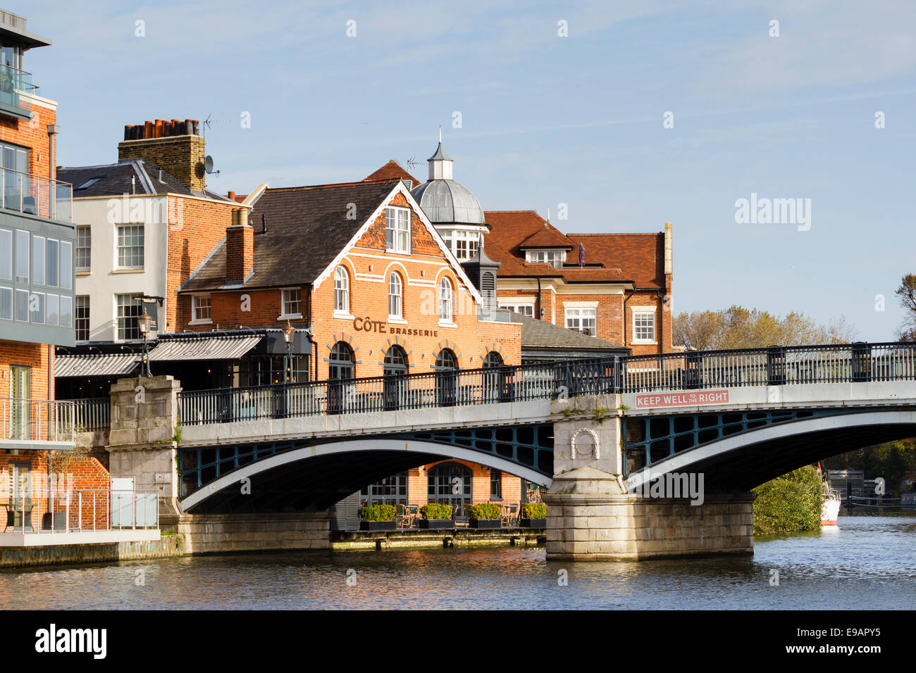 River Thames at Windsor/Eton with Cote Brasserie, Berkshire,England,UK - Stock Image