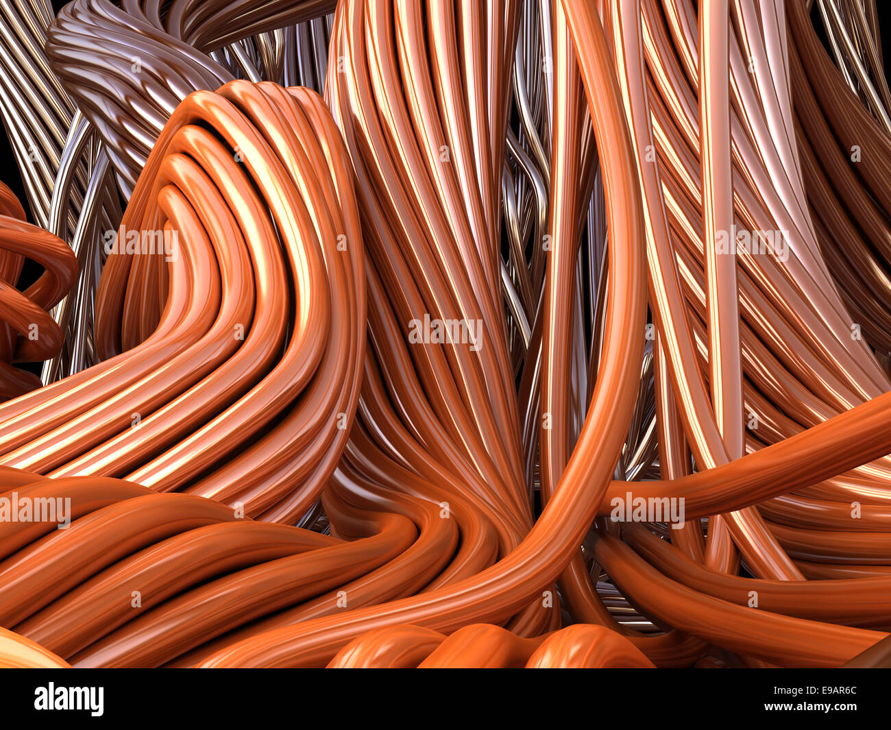 Copper Wires Stock Photos Images Alamy Wiring Cables For Information Future Technology And Industrial 3d Illustration Image