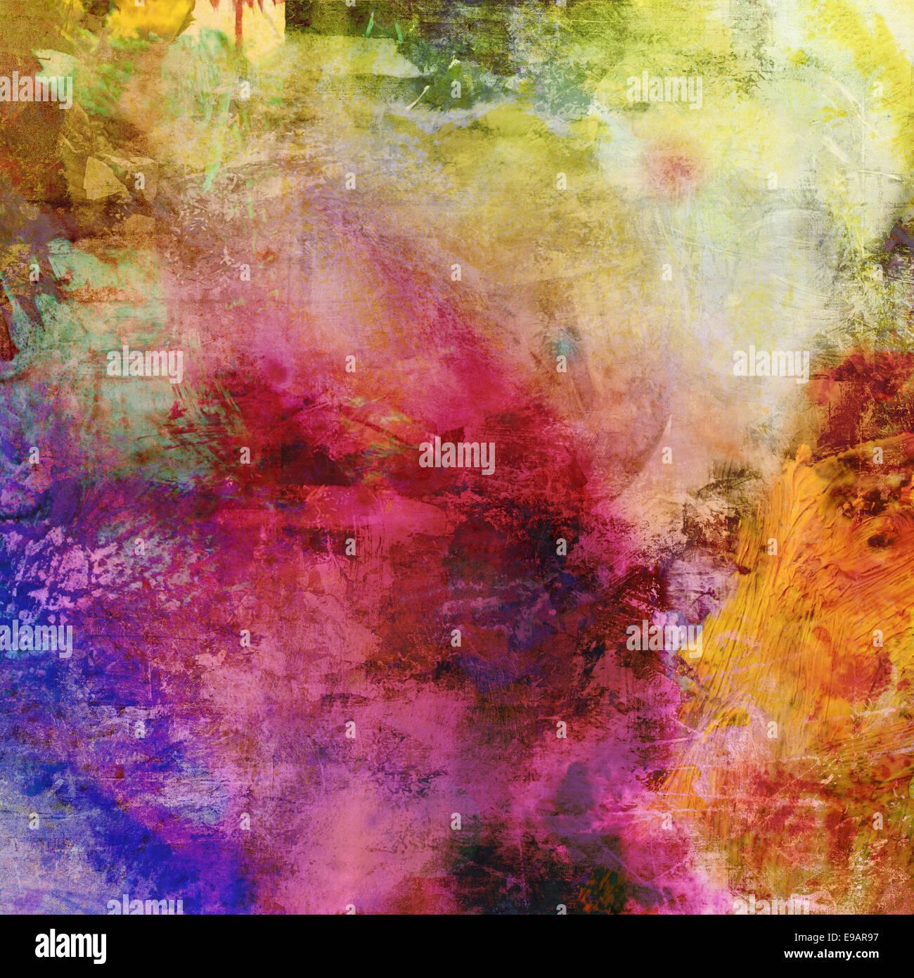 abstract artwork - mixed media grunge - Stock Image