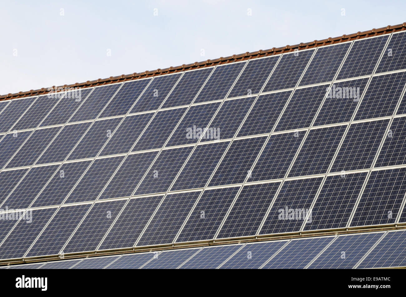 Solar plant, Muensterland area, Germany - Stock Image