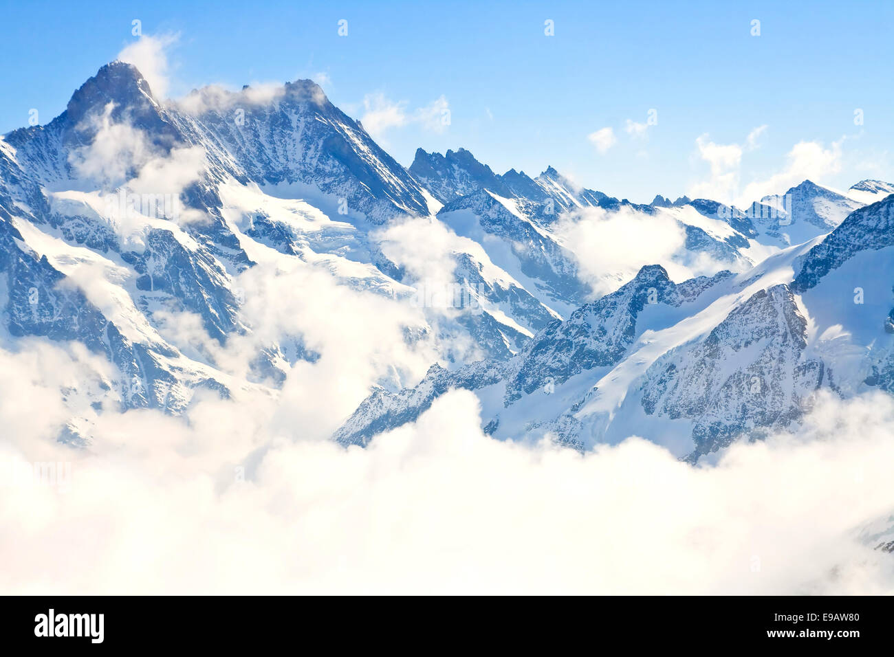Jungfrau region in Swiss Alps, Switzerland - Stock Image