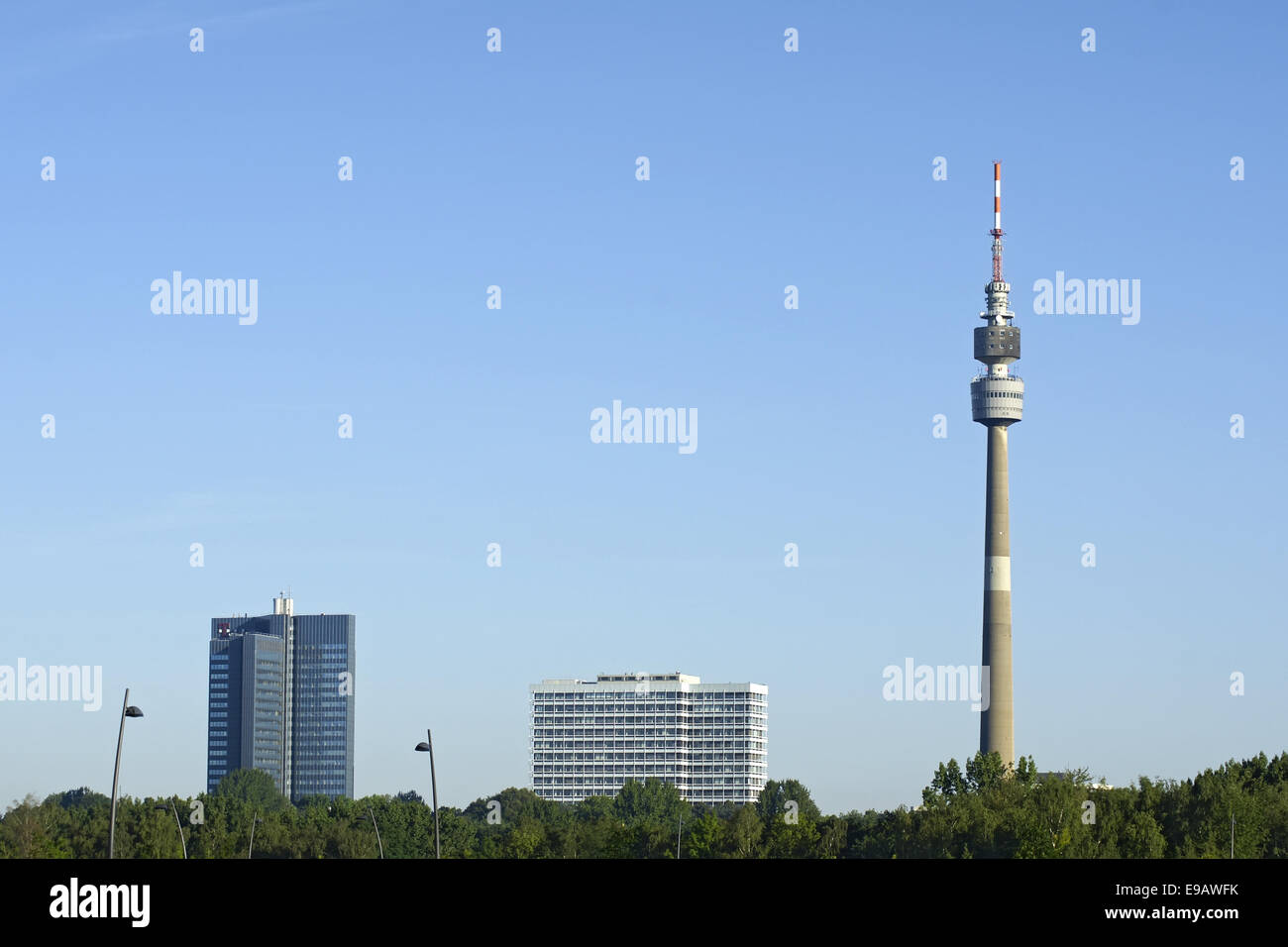 Skyline Dortmund, Germany Stock Photo