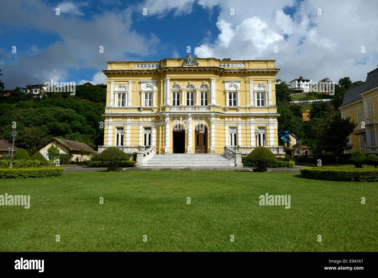 Historic villa, Palácio Rio Negro, Avenida Koeler, Petropolis, Rio de Janeiro, Brazil - Stock Image